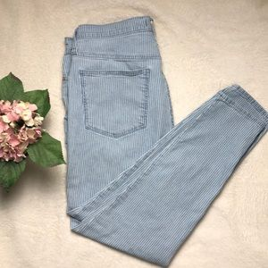 "Madewell Piper Stripe 10"" High Rise Jeans Size 31"